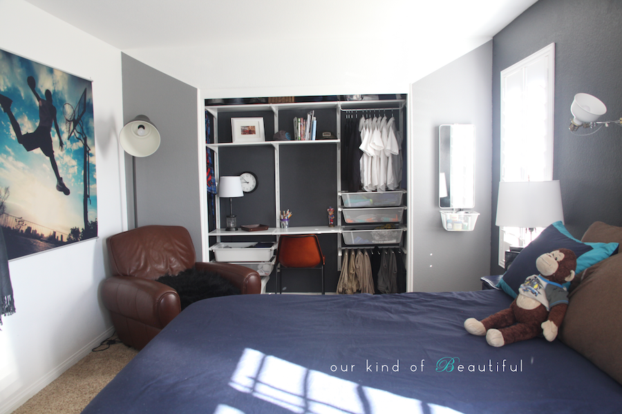 Boys Room Reveal: Basketball & Aviation Love